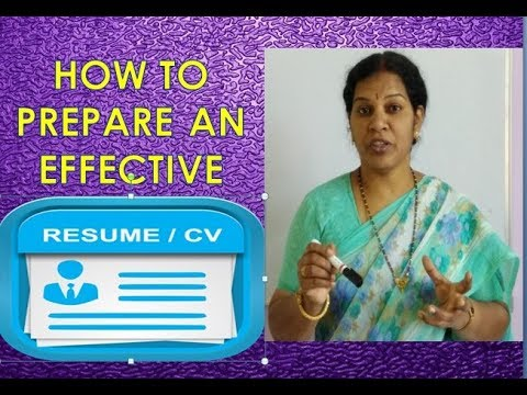 TIPS TO WRITE AN EFFECTIVE RESUME/ CV