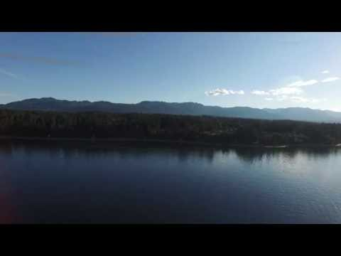 Flying the Phantom 3 out to sea- Fly Vancouver island: Fly over Vancouver island beaches Phanton 3