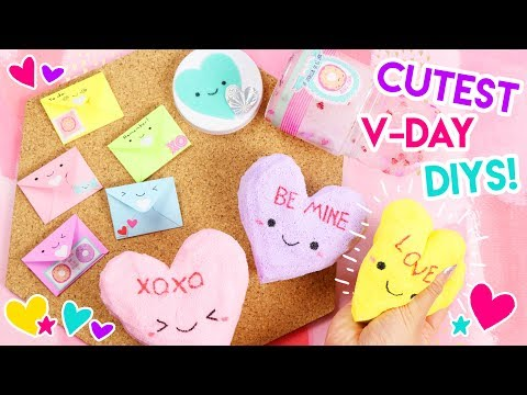 KAWAII Valentine's Day DIYs! 💖 (Squishies, Slime, and Pins)!