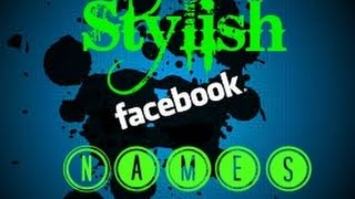 How to Make stylish Name ID on Facebook 2018