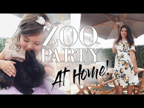 WE HAD A ZOO PARTY AT HOME?!😱🏡🦆 | KIDS DREAM BIRTHDAY PARTY | VLOG #Ad