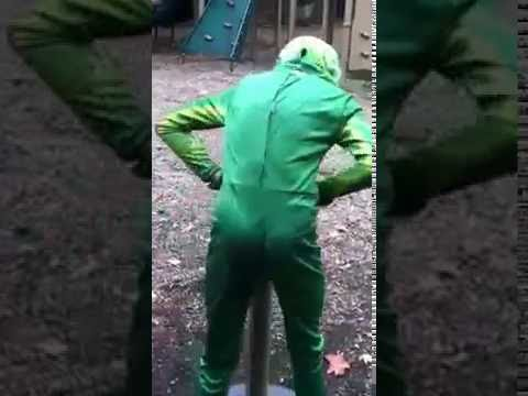 Kid in an Alien Costume Falls Over and Cries