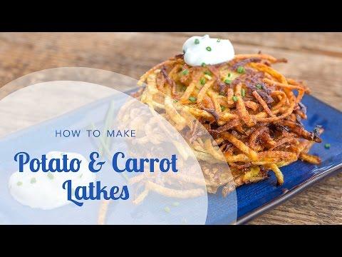 How to Make Potato Pancakes: Indian Potato, Ginger and Carrot Latkes