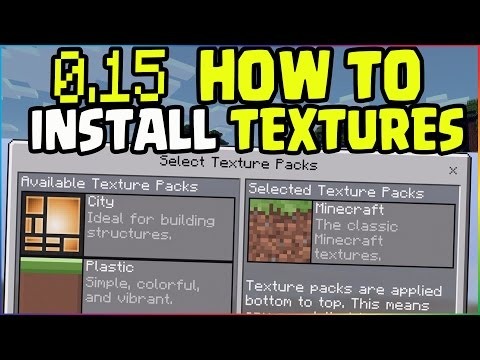 MCPE 0.15 Update How To Download/Install Texture Packs! Minecraft PE (Pocket Edition) iOS, iPad
