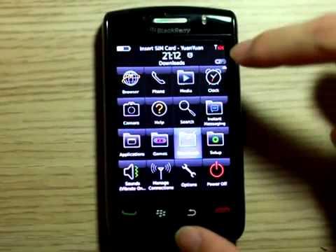 Finger Scanner App For BlackBerry Storm