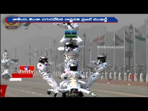 Excellent Bike Stunts by Indian Army Dare Devils on 67th Republic Day | Delhi | HMTV