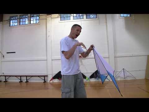 Indoor Dual 02 - Tuning pt 1 (stunt kite tutorial)