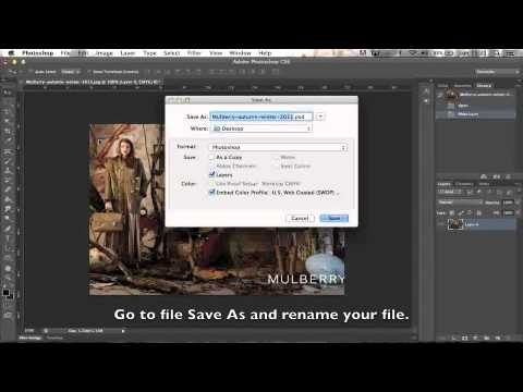 Converting a file to PDF in Photoshop CS6