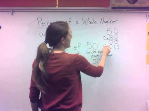 Mrs. Yepiz Percents of Whole Numbers