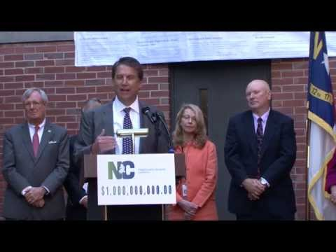 Governor McCrory Announces $1 Billion Reserve in Unemployment Trust Fund