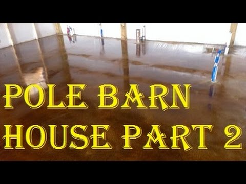 How to build a pole barn house for super cheap