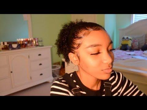 Quick GRWM;how i do my edges/eyebrows/slick bun