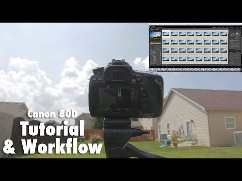 CANON 80D Time Lapse Tutorial & Workflow - Intervalometer