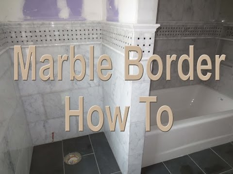 How to install a complicated marble border, overview.