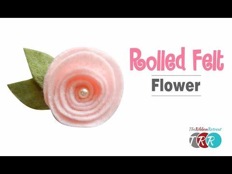 How to Make a Rolled Felt Flower - TheRibbonRetreat.com
