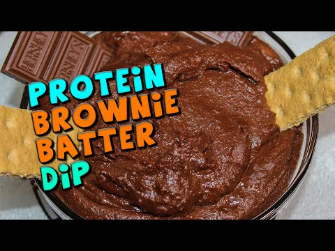 PROTEIN Brownie Batter Dip Recipe (Healthy)