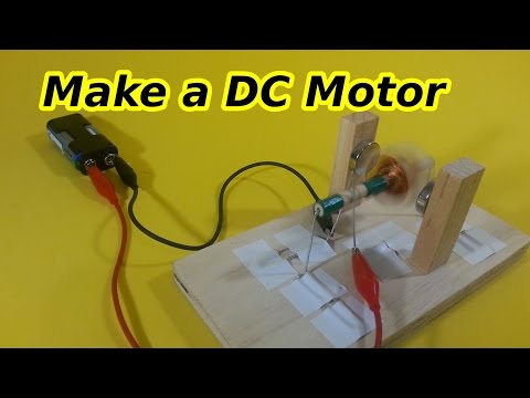 DC Motor with Brushes and Commutator, Easy