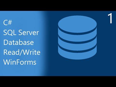 C# Database Programming for Beginners | Part 1 - Creating a SQL Server Database