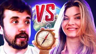 ISSO AQUI NÃO É O BRASIL! - Leon vs Nilce no GeoGuessR