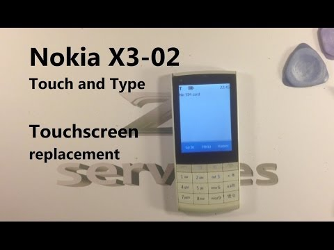 Nokia X3 Touch and Type / X3-02 - How to Change Touch Screen