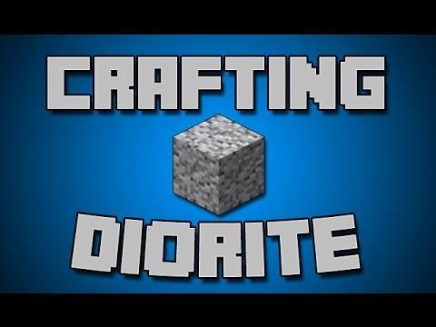 How To Make Diorite Blocks - Minecraft 1.8 Tutorial