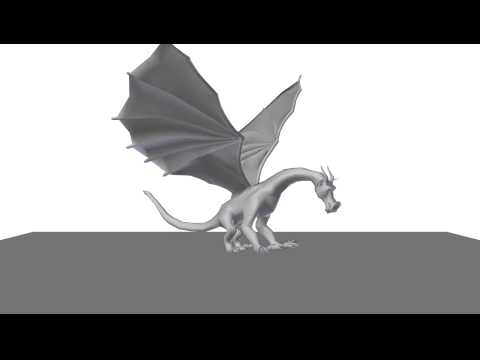 OpenGL Dragon animation, key poses (linear)