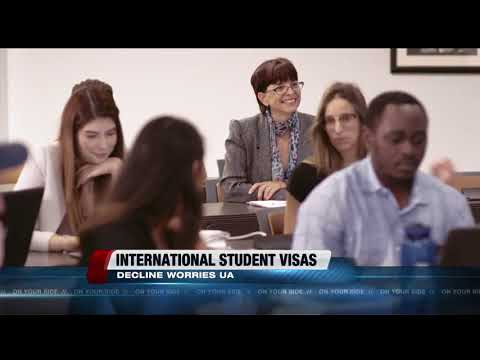 Decline in international student visas concerns UA