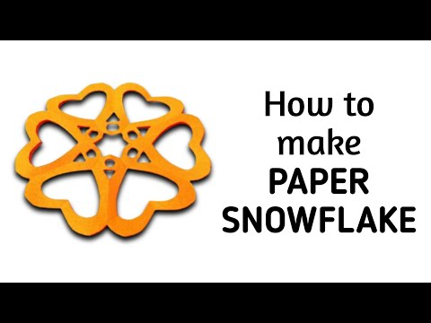 How to make a kirigami paper snowflake - 3 | Kirigami / Paper Cutting Craft, Videos and Tutorials.
