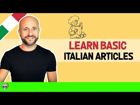 Improve Beginner Italian and Learn Basic Italian Articles and Grammar: Learn Italian Online LIVE