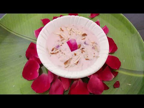 ROSE FIRNI ,Rose Day Special Recipe, Valentine Special Recipe ,रोज़ फिरनी !वैलेंटाइन स्पेशियल !