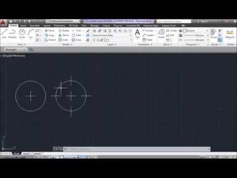 How to draw center marks using AutoCAD