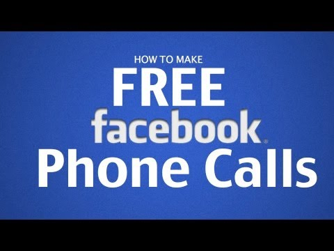 How To Make Free Phone Calls on Facebook with iPhone, iPad, iPod Touch