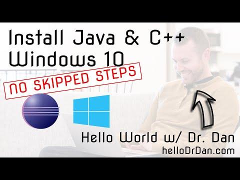 Java & C++11 (gcc/g++/MinGW64) in Eclipse Neon - Install on Windows 10 + First Programs in Java/C++