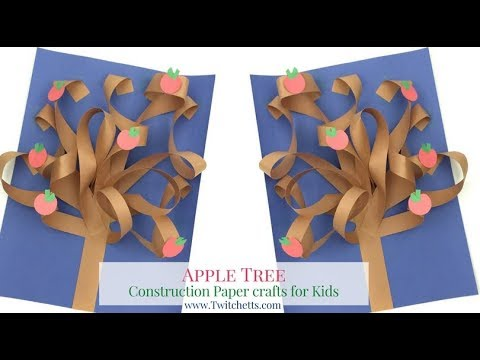 3D Construction Paper Tree