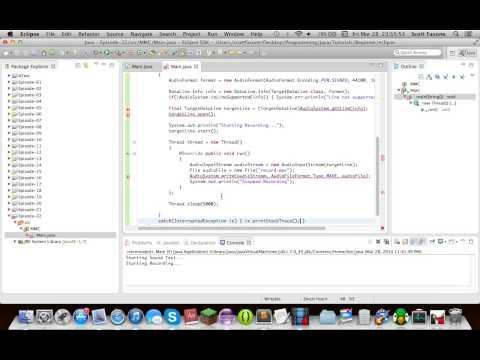 Java Tutorials: Episode 22 - Java Sound API - TargetDataLine