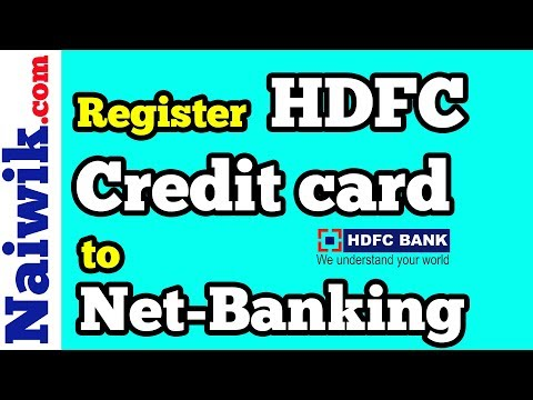 How to register HDFC credit card to Netbanking account