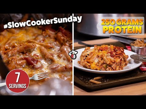 Easy Meal Prep SLOW COOKER PIZZA Recipe