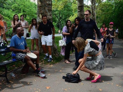 Taylor Swift in Central Park and Craig SOG raps freestlye