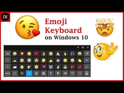 Emoji Keyboard | How to Enable/Use Emoji Keyboard on Windows 10 (2017) | Deep Info