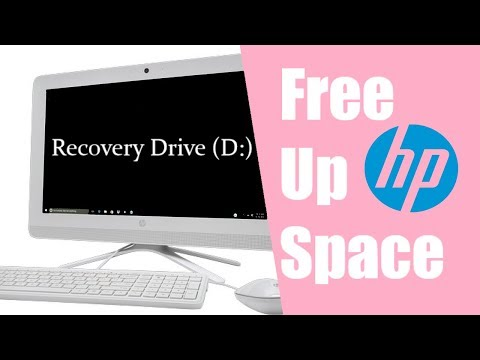Free up space on a Recovery Drive Hp all in one PC Windows 10 (easy)