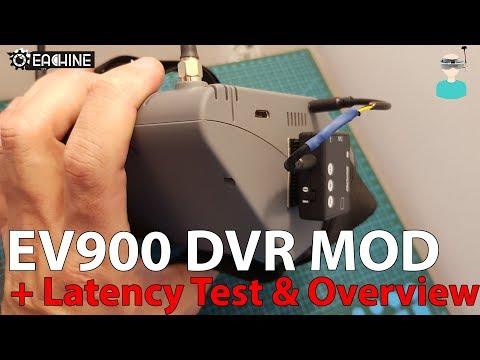 Eachine EV900 - DVR MOD, Overview & Latency Test