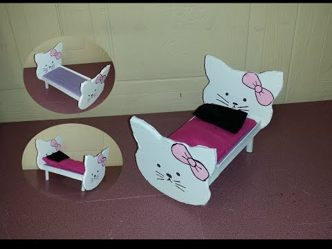 How to make a Doll Kitty Bed