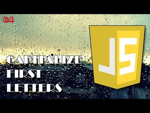 JAVASCRIPT How to capitalize string