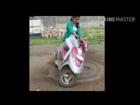 indian girl bike stunts