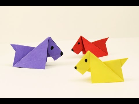 How to make a paper Dog? (Easy origami for kids)