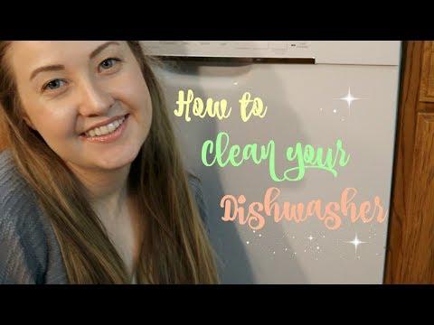 HOW TO CLEAN YOUR DISHWASHER  || VINEGAR & BAKING SODA