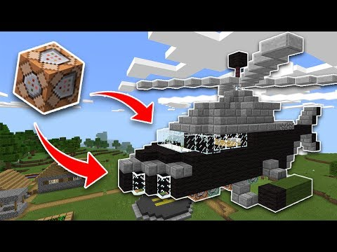 WORKING HELICOPTER Using COMMAND BLOCKS in Minecraft PE!! (Pocket Edition)