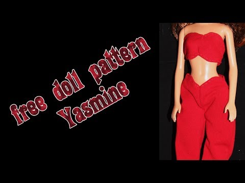 Make your own doll clothes - Jasmine red outfit