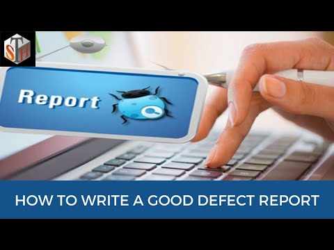Bug Report - How to write a good defect report with sample bug report