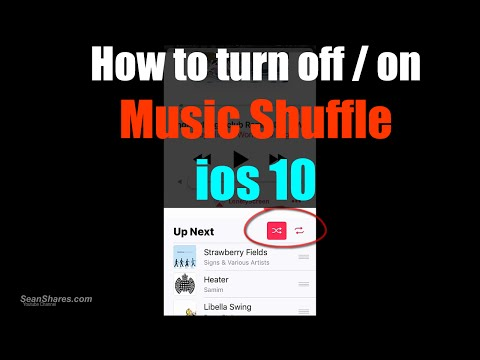 How to shuffle music on ios 10